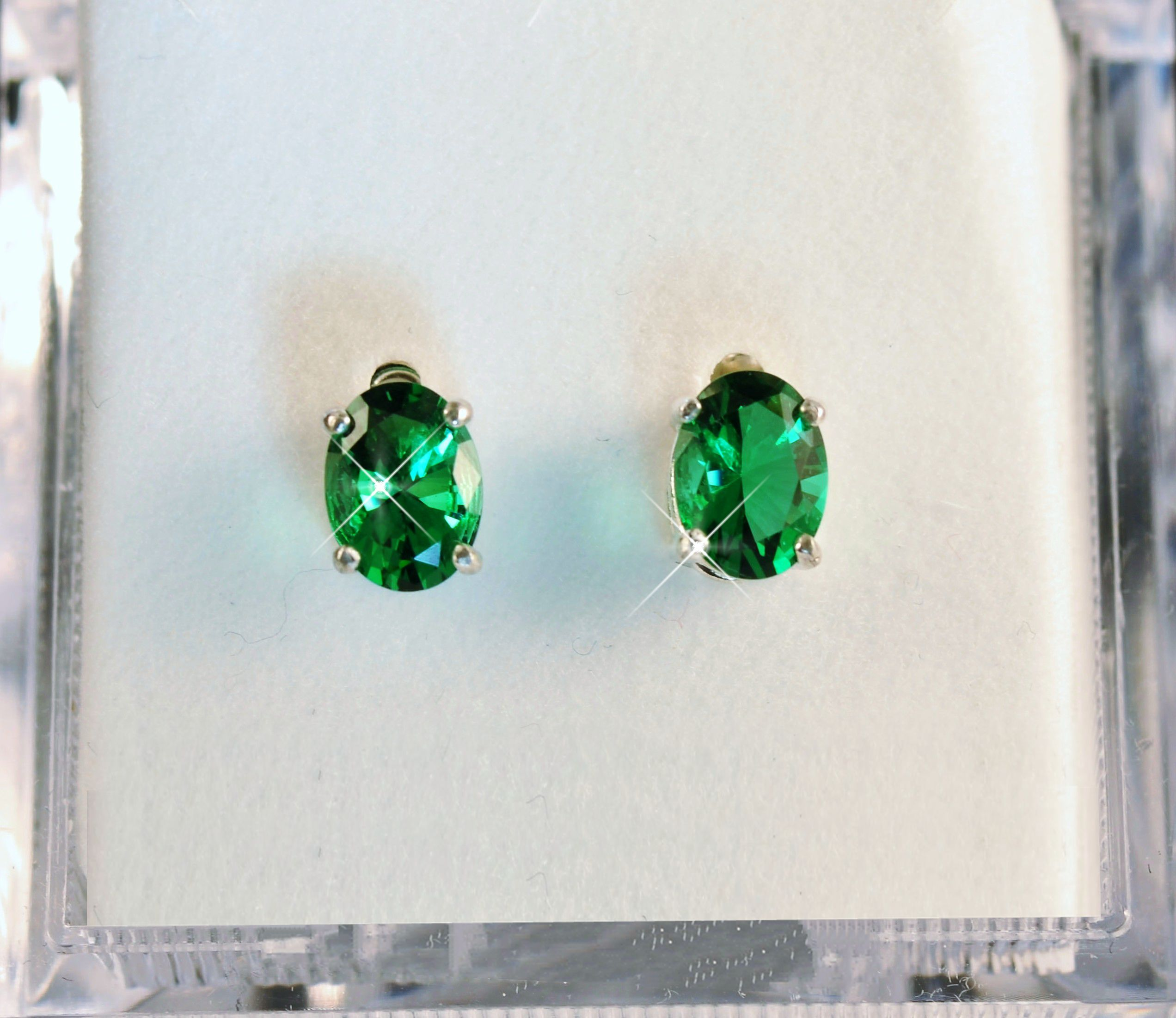 zoom il fullxfull earrings listing hwgh vintage natural silver stud emerald sterling